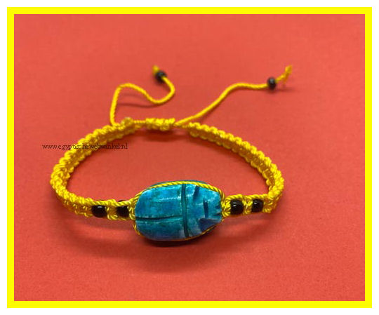 Scarab yellow bracelet