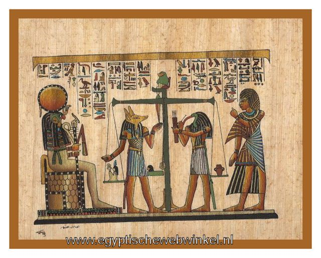 Weighing the Heart papyrus