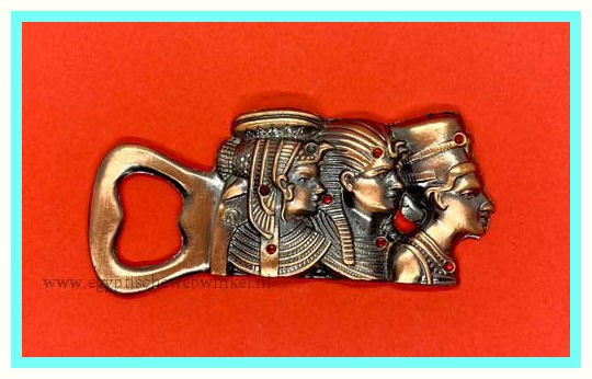 Tutankhamun, Nefertiti and Cleopatra bottle opener B